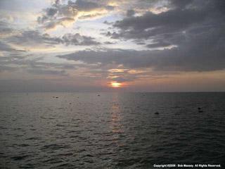 Sunset on the Tonle Sap